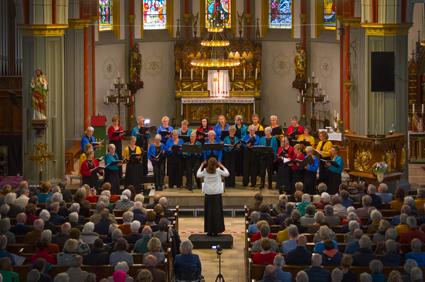 Foto van ons optreden in de Stephanuskerk op 27 oktober